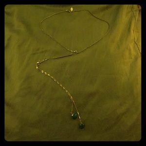 Express Gold Necklace w/Malachite Stones